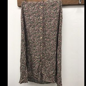 Button Up Floral Skirt - Size 10
